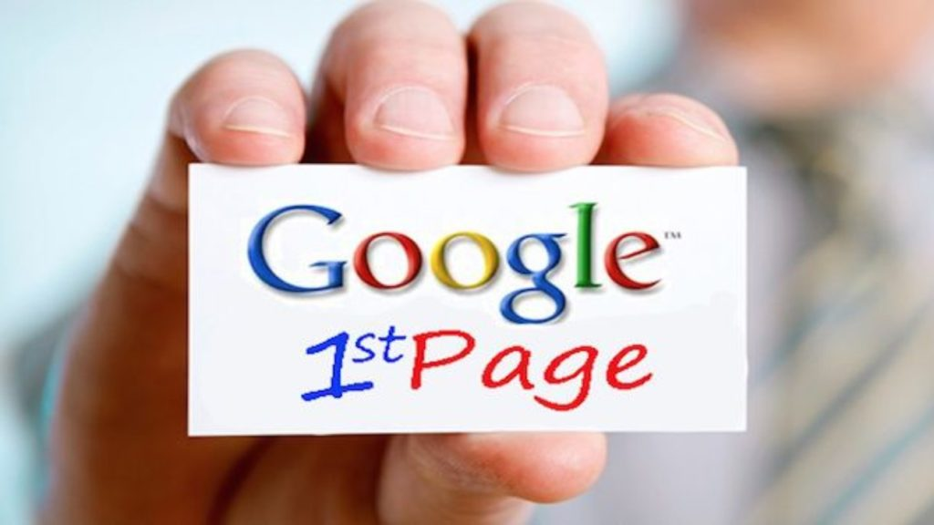 Google 1st page ranking FOR SEO